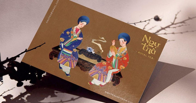 """Bộ nhận diện thương hiệu """"Ngự Trà - Royal Tea"""" lấy cảm hứng từ nét đẹp cung đình Huế"""