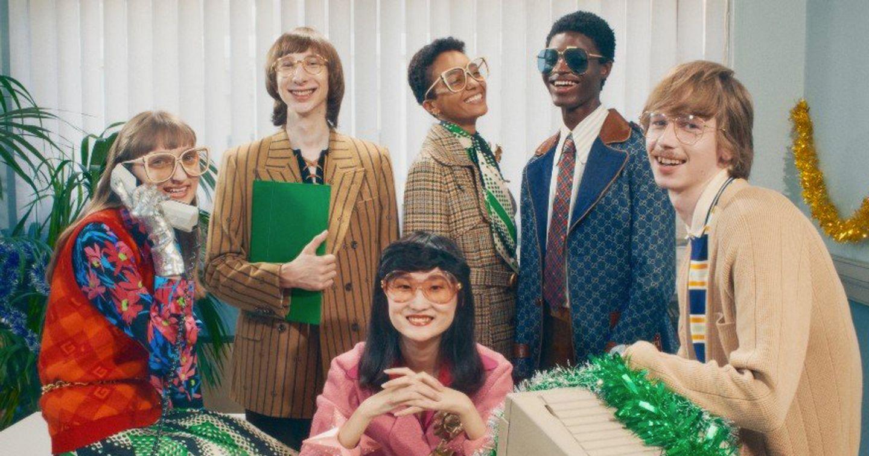 Gucci Gift 2020: Mang bữa tiệc văn phòng từ thập niên 90 trở lại